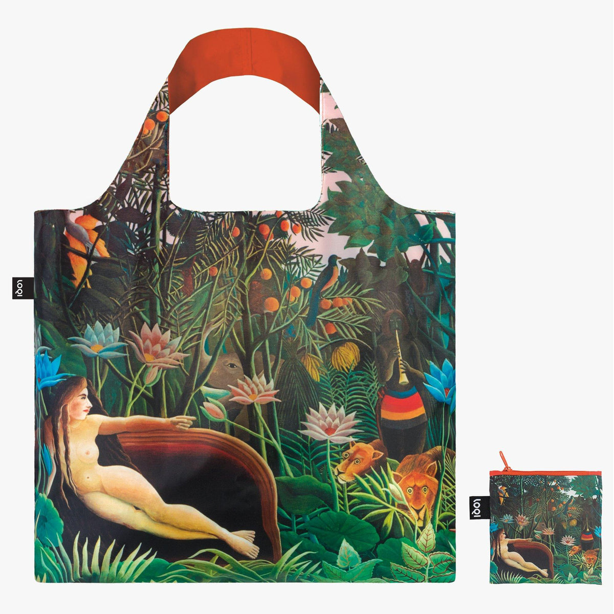 LOQI Henri Rousseau The Dream, 1910 Bag  with zip pocket