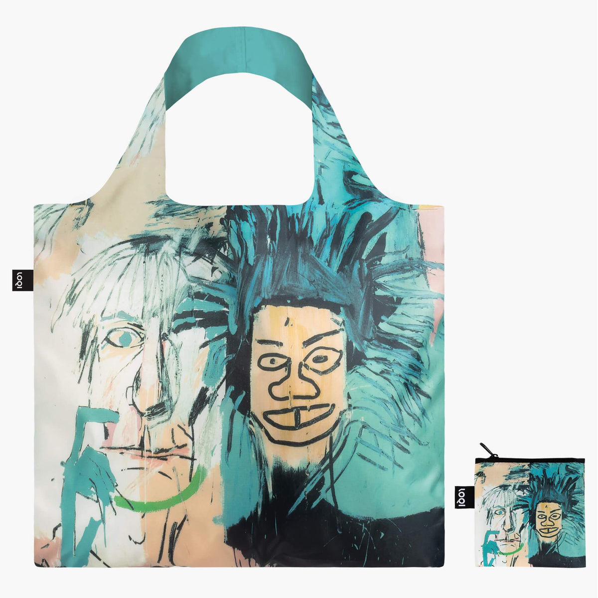 LOQI Jean-Michel Basquiat Warhol Bag with zip pocket