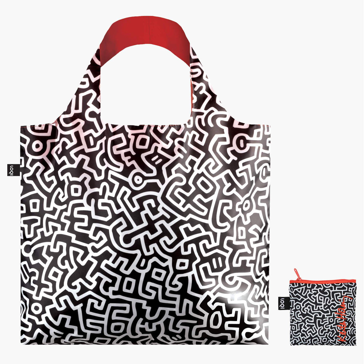 LOQI Keith Haring Untitled Bag with zip pocket