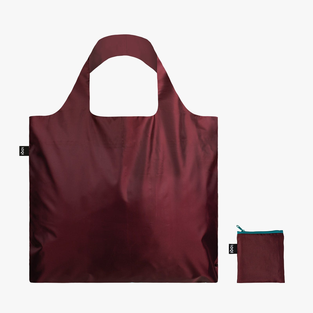 LOQI Puro Sangria Bag with zip pocket