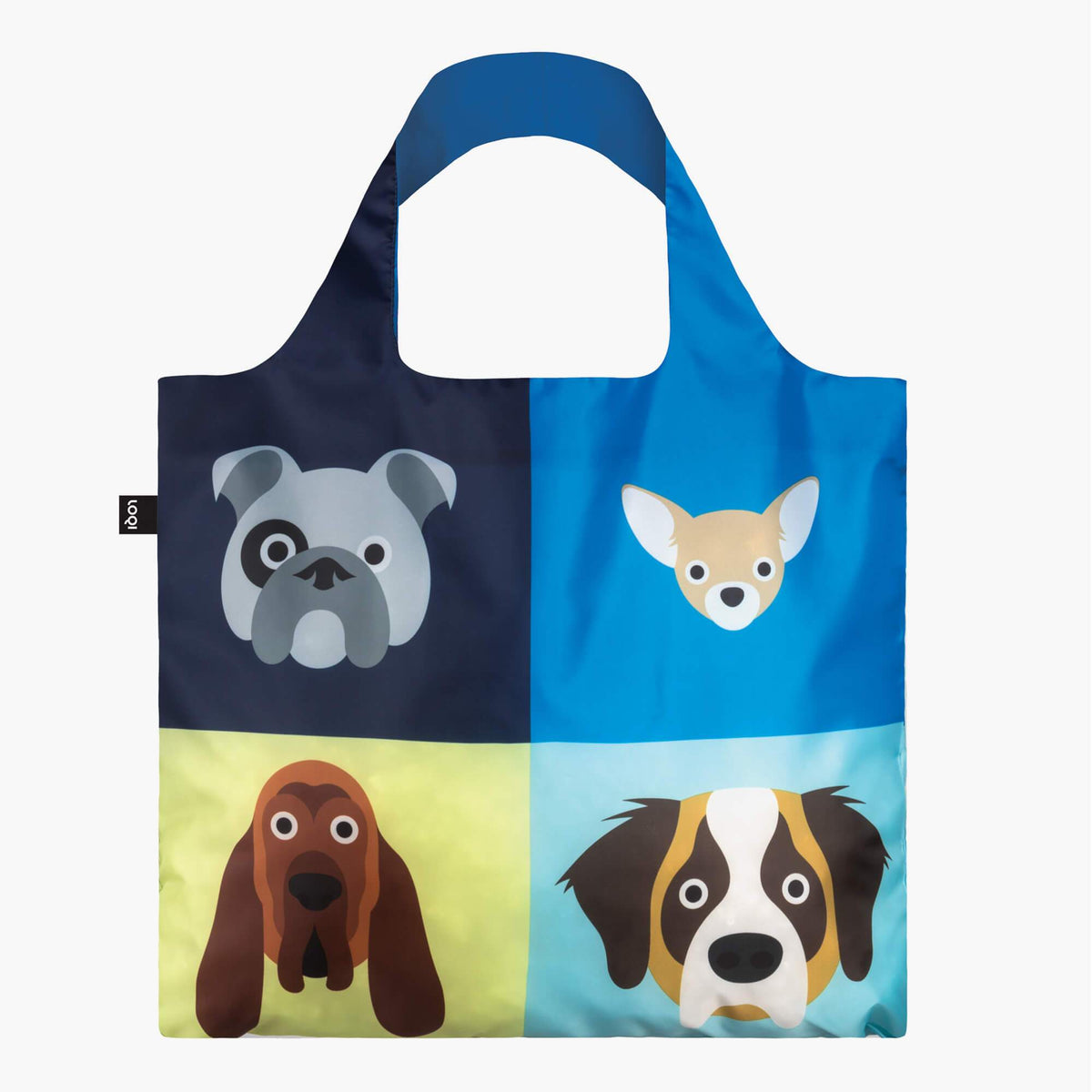 LOQI Stephen Cheetham Dogs Bag front