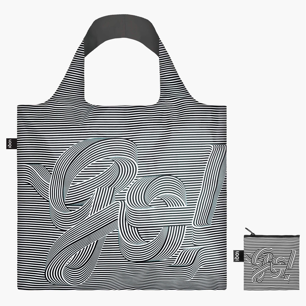LOQI Sagmeister & Walsh Go Go Go Bag with zip pocket