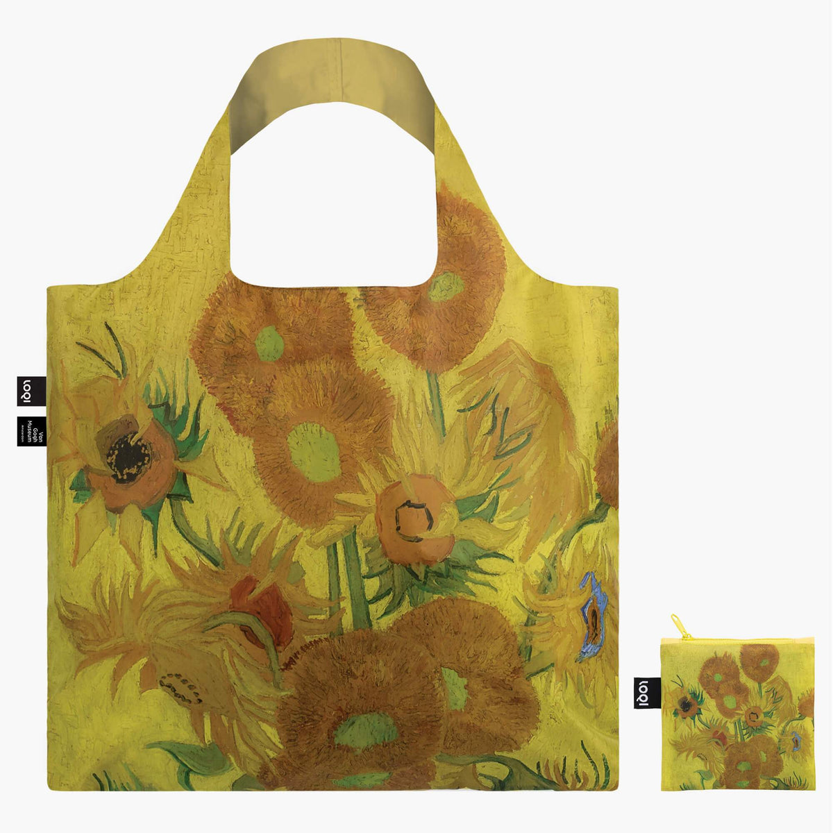 LOQI Vincent van Gogh Sunflowers Bag with zip pocket