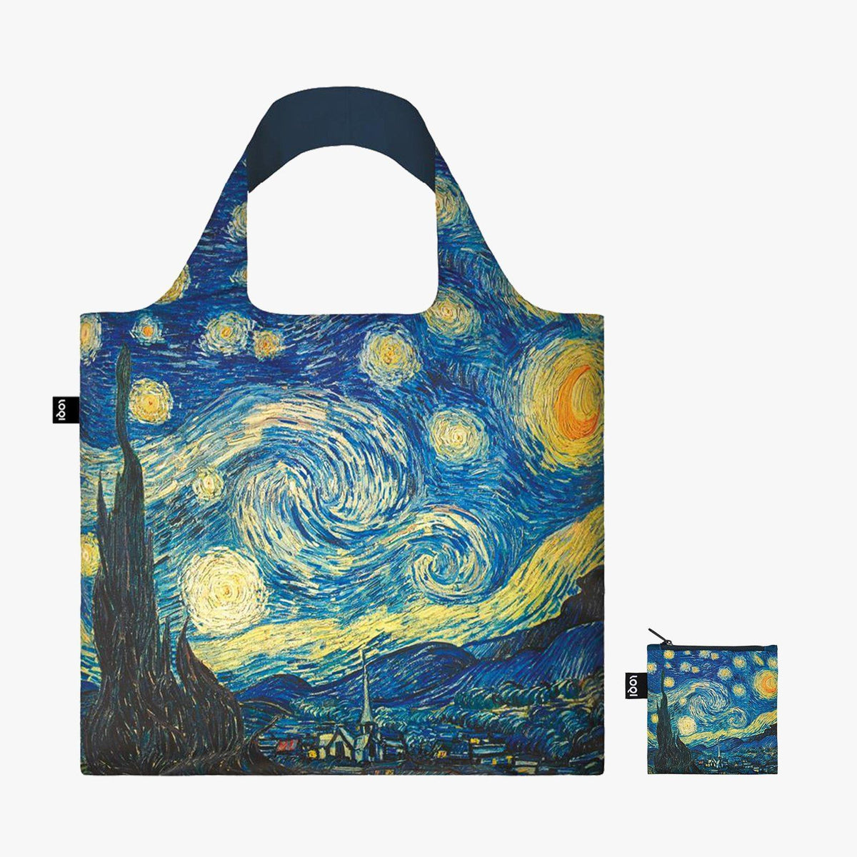LOQI Vincent van Gogh The Starry Night, 1889 Bag with zip pocket