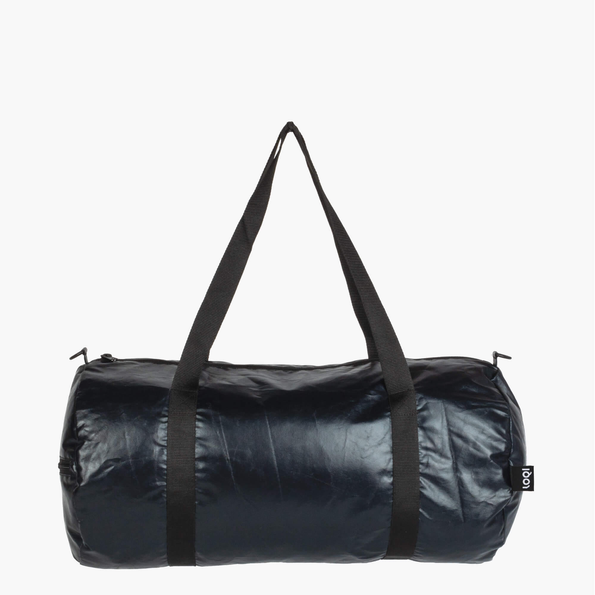 LOQI Metallic Matt Black Weekender outside