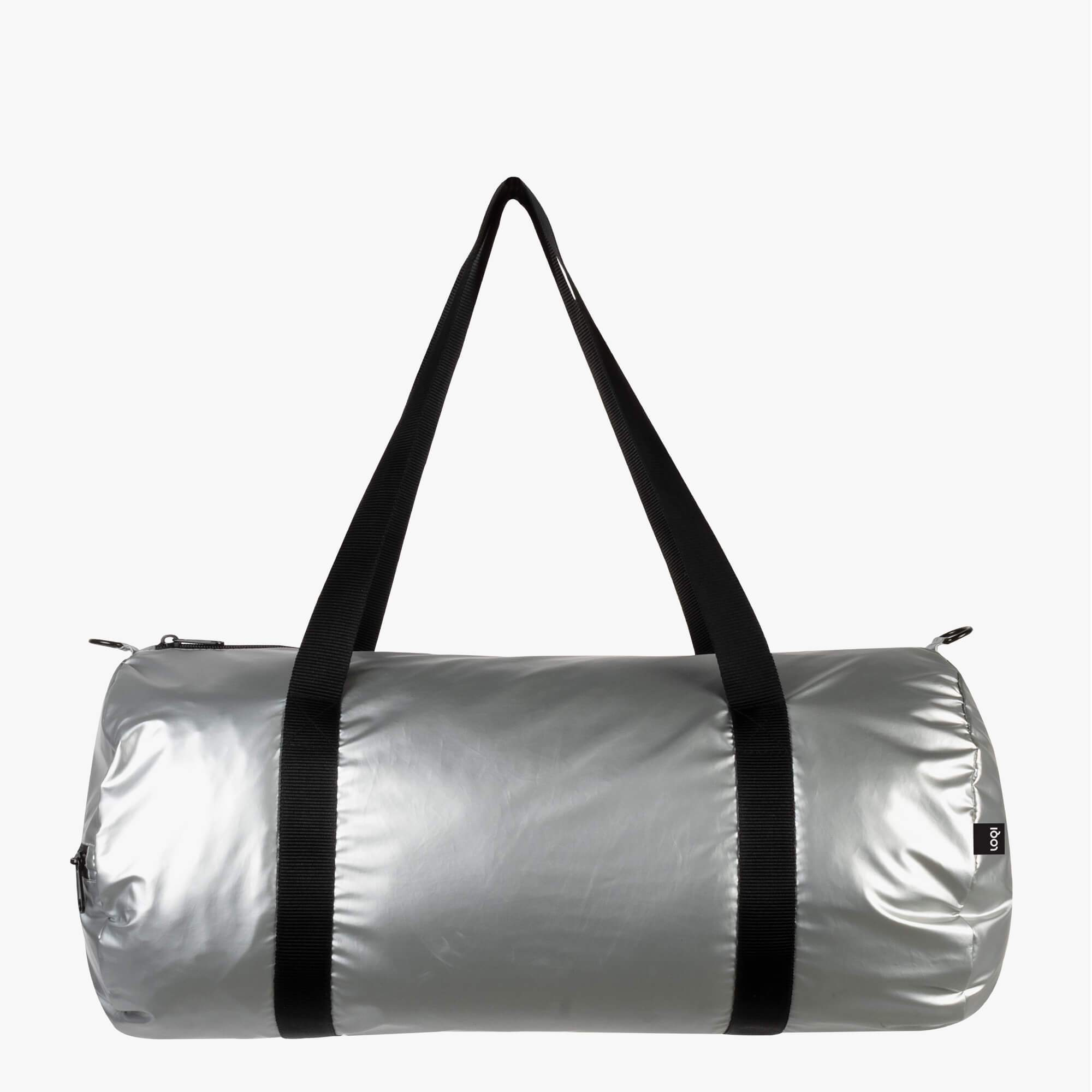 LOQI Metallic Matt Silver Weekender outside