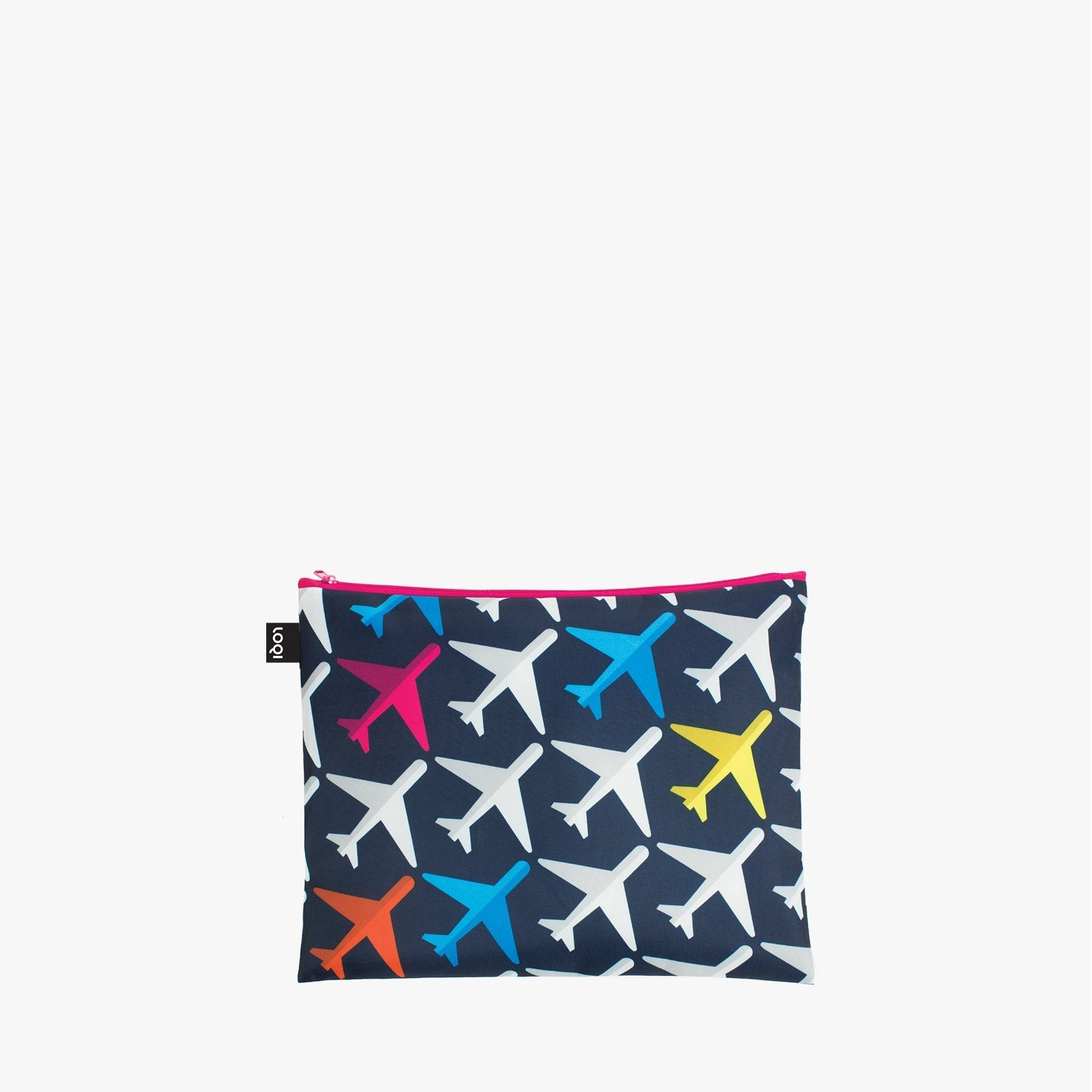 LOQI Airport Airplanes Zip Pockets