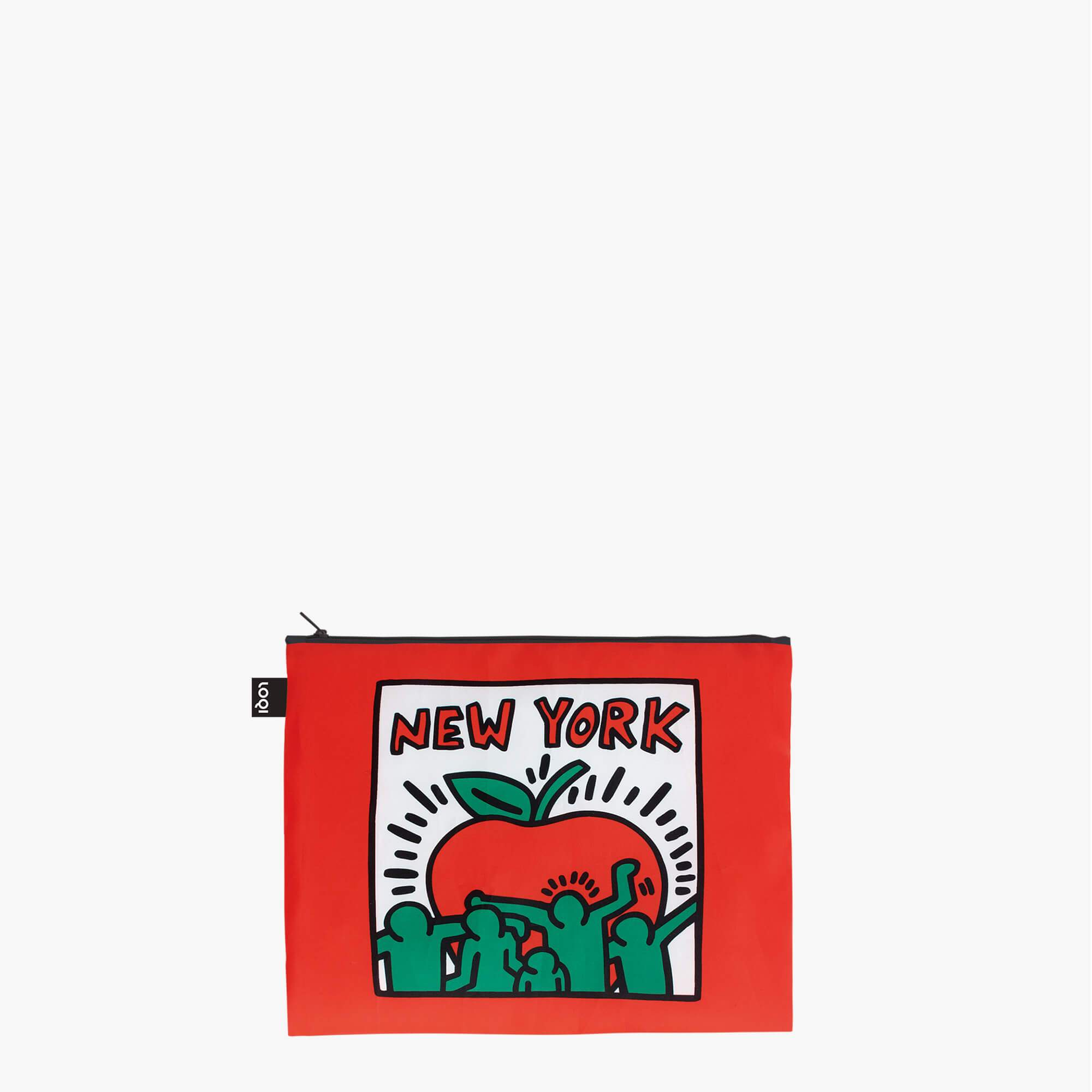 LOQI Keith Haring New York Zip Pockets Stacked