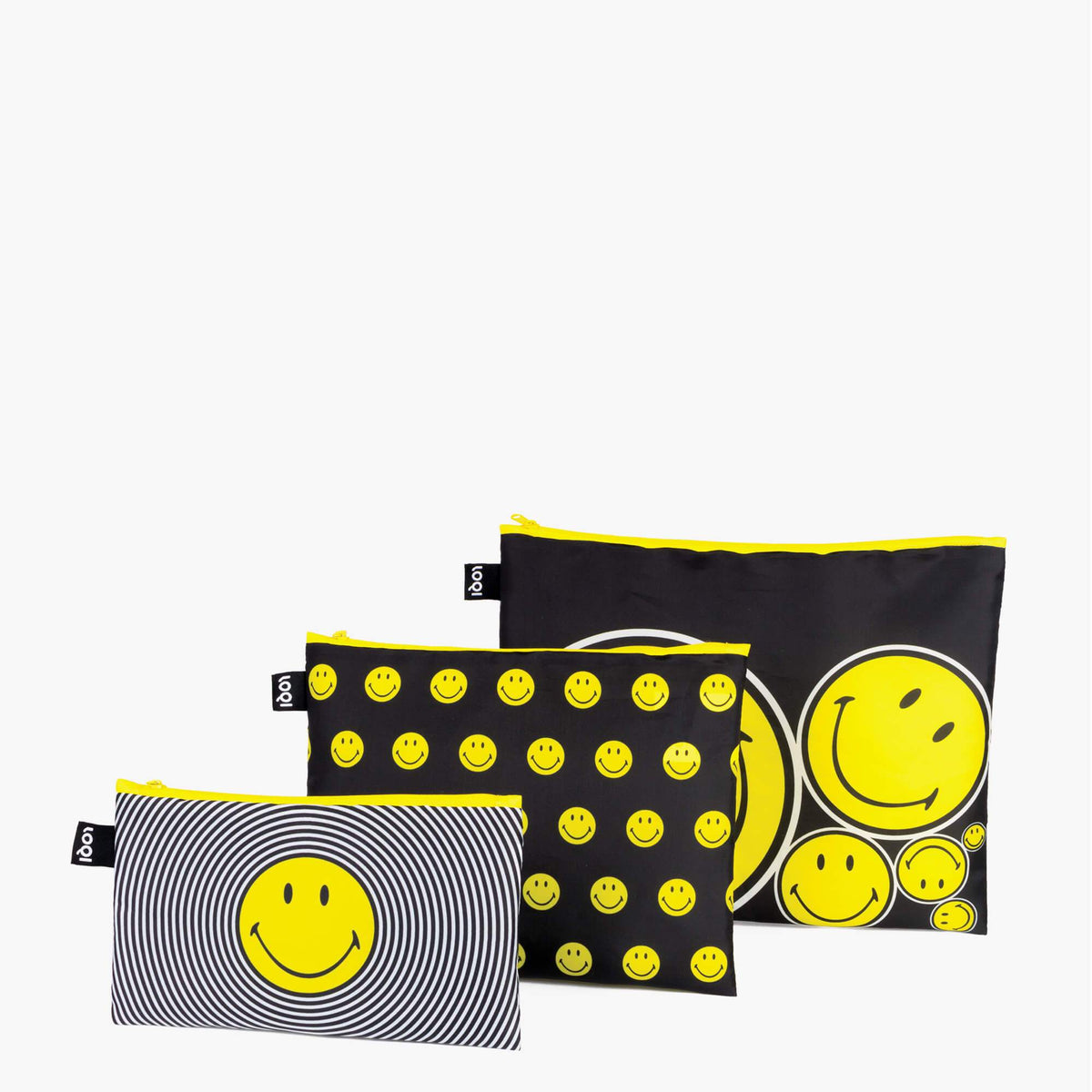 LOQI Smiley Spiral, Dots, Spots Zip Pockets
