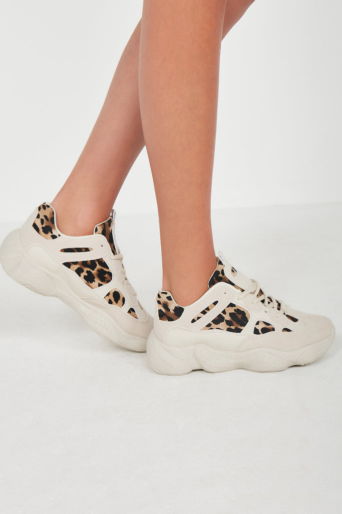 Martha Stone and Leopard Chunky Trainers (1725678256194)