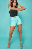 Koda Mint Green High Waisted Shorts