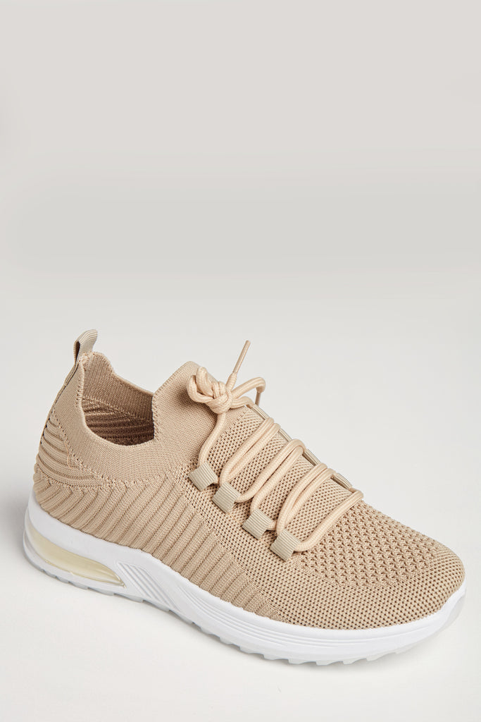 Vada Stone Fabric Lace Up Trainers