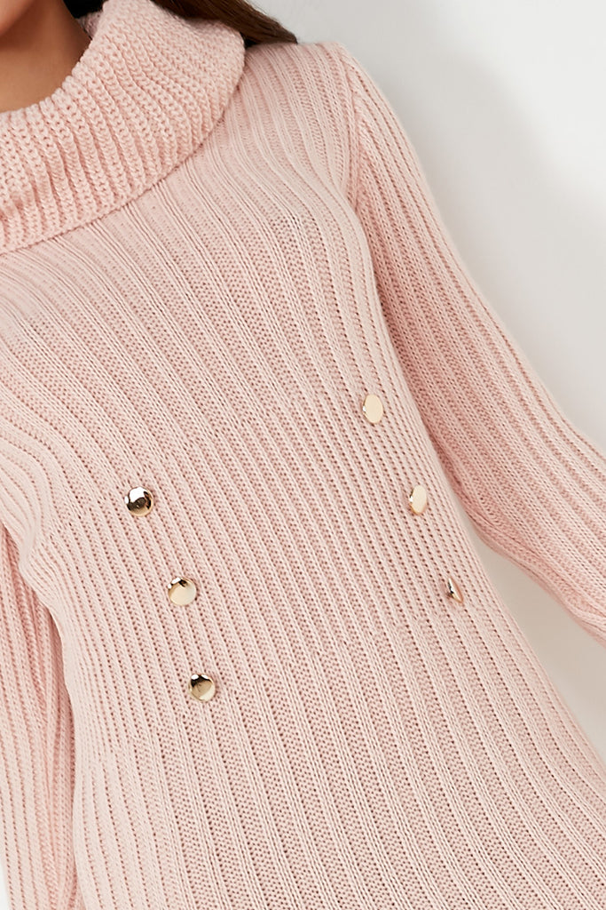 Annabelle Pink Knit Jumper Dress