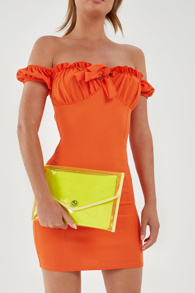 Party Festival Neon Yellow Clutch Bag (1921269006402)