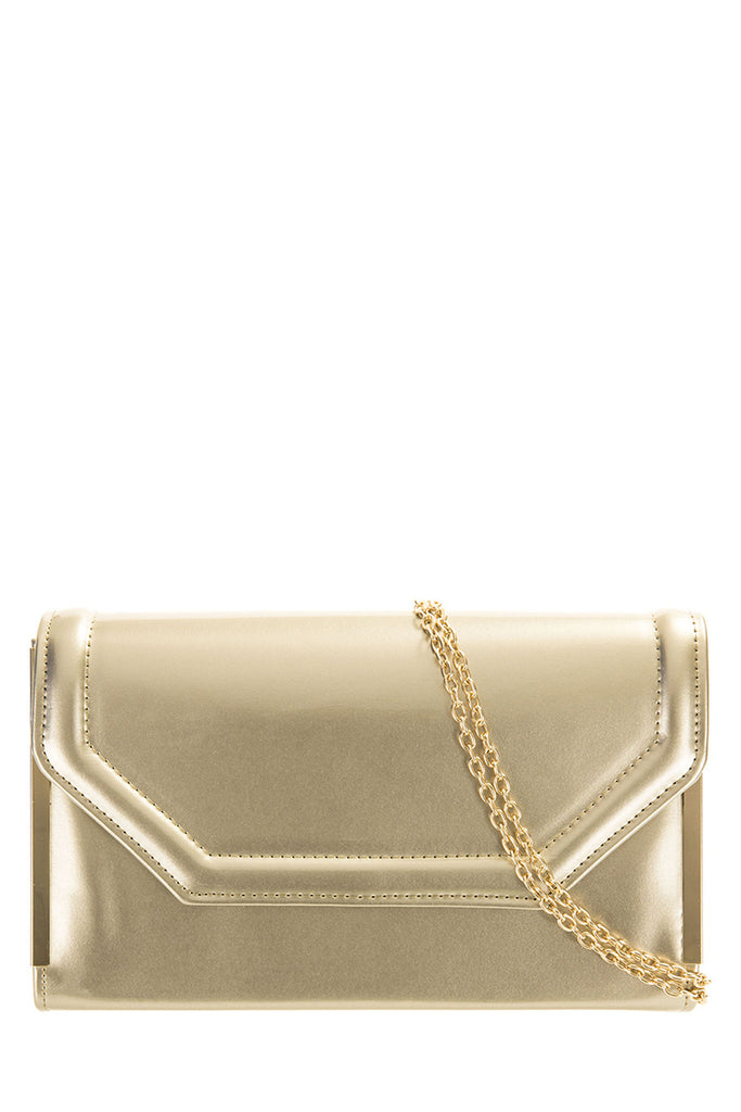 Fifi Pewter Structured Box Clutch (1106464133)