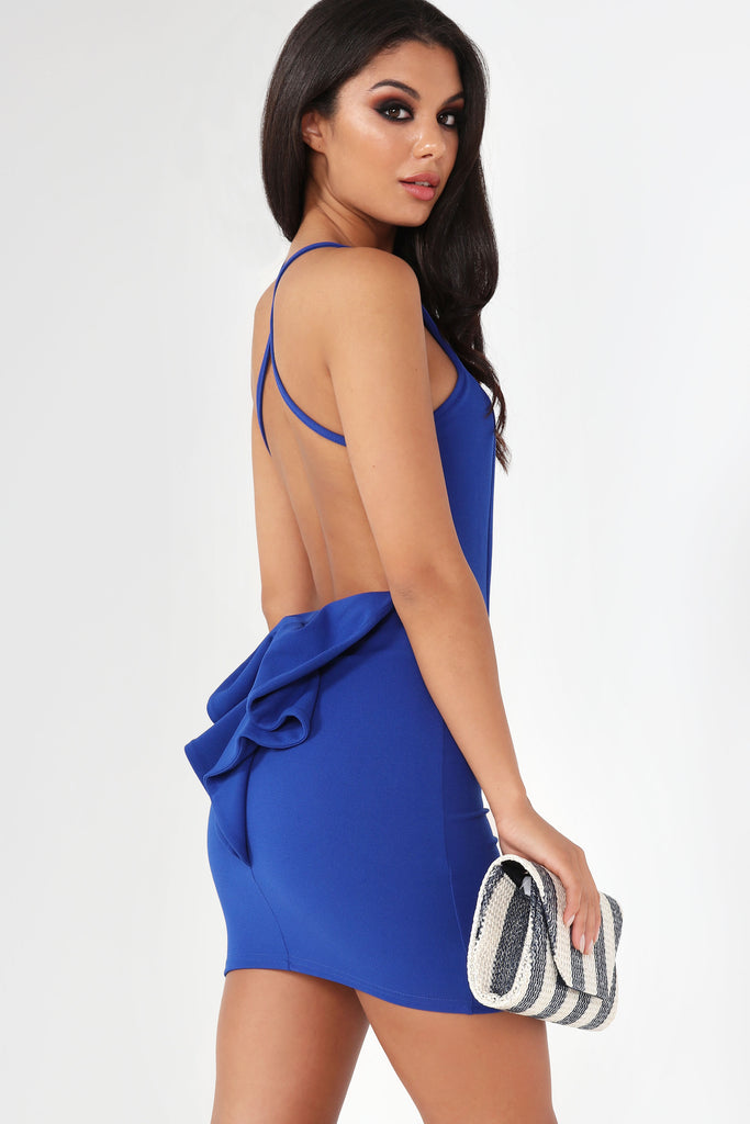 Jamila Blue Bow Back Dress