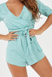 Abbie Mint Heart Print Playsuit (2000258498626)
