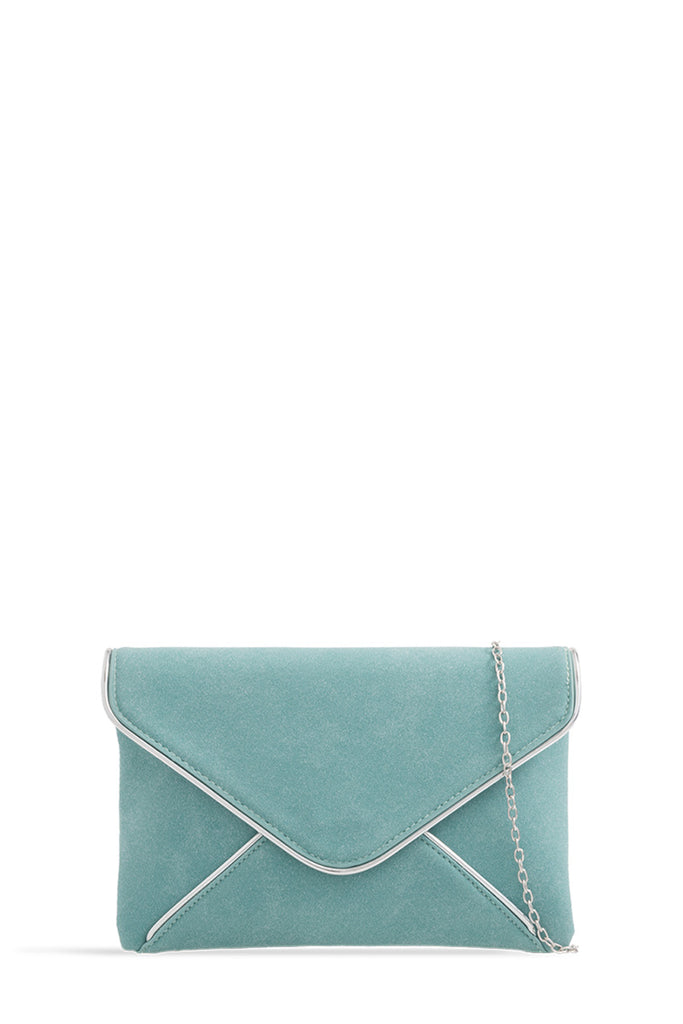 Addison Blue Suedette Clutch Bag