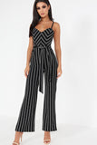 Adele Black Striped Jumpsuit