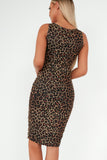 Adrienne Leopard Print Ruched Mini Dress
