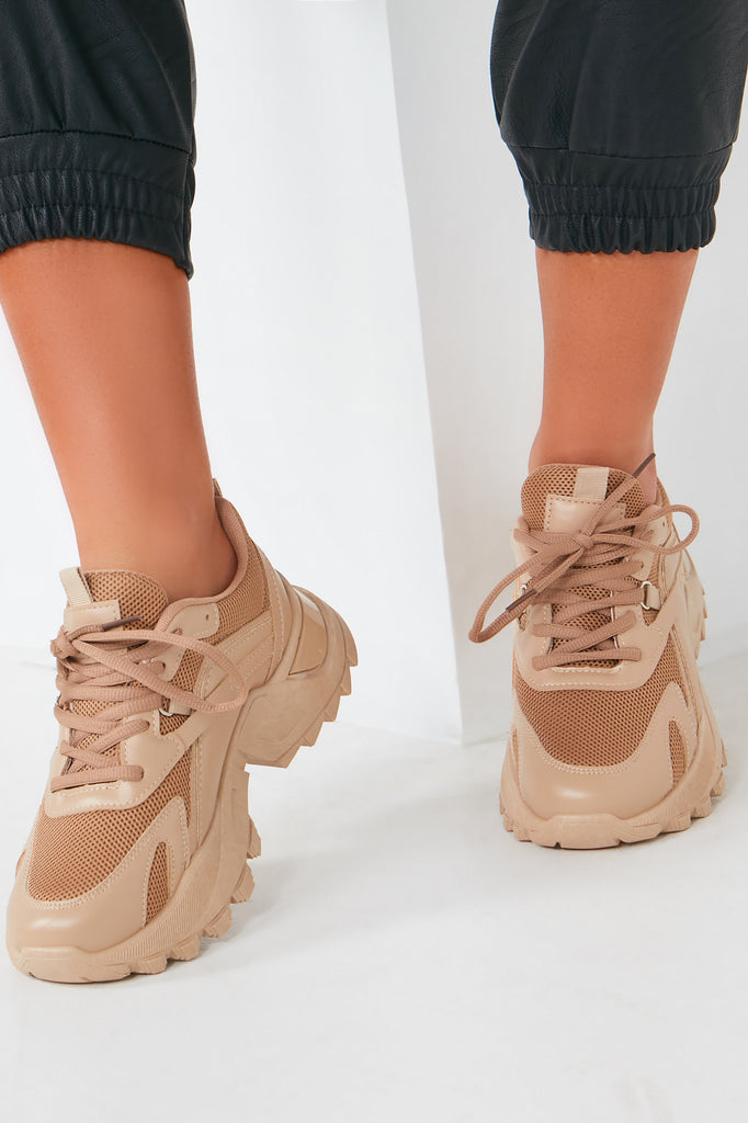 Aishling Camel Chunky Sole Trainers