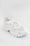 Aishling White Chunky Sole Trainers