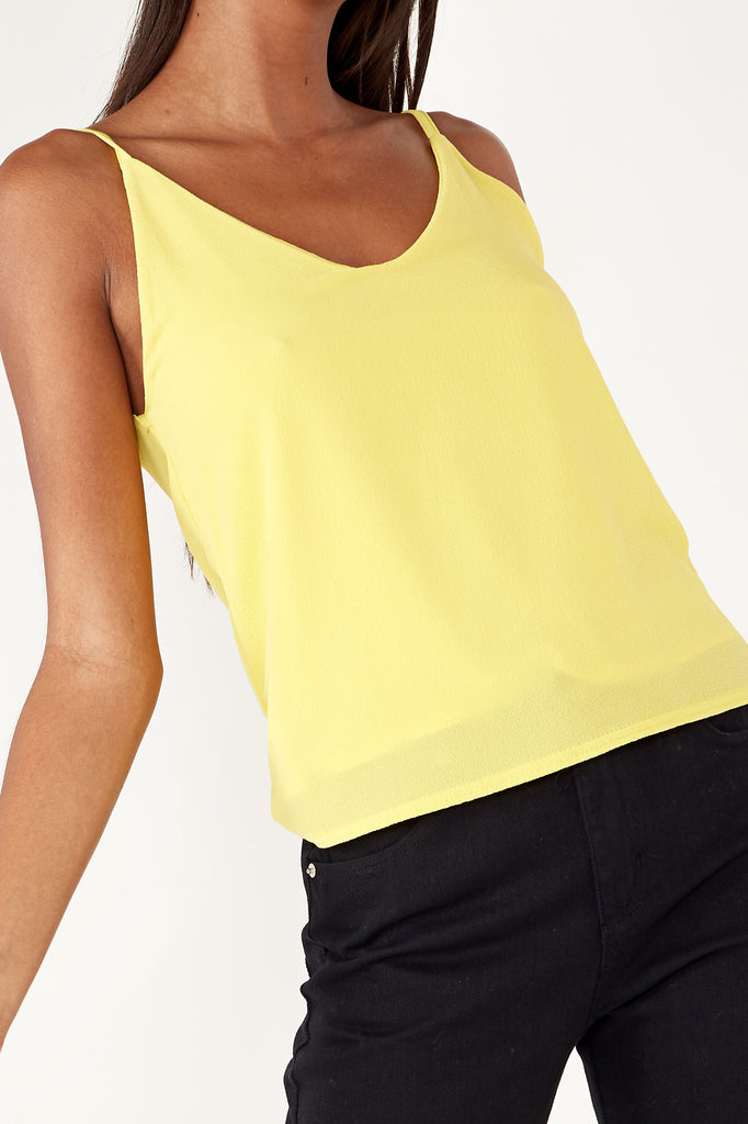 Alannis Yellow V Neck Camisole
