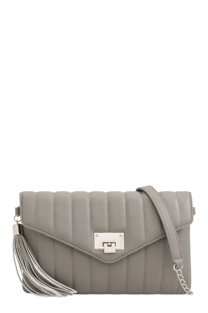 Alison Grey Quilted Leatherette Bag