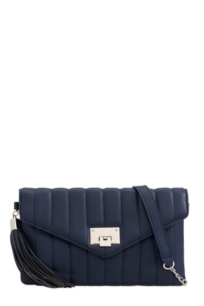 Alison Navy Quilted Leatherette Bag
