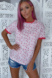 Alita Pink and Red Heart and Spot T-Shirt