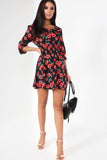 Alma Black Floral Dress