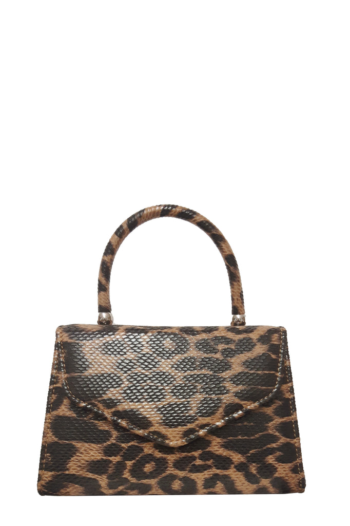 Alma Leopard Print Structured Box Bag