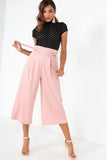 Amal Pink Wide Leg Crop Trousers