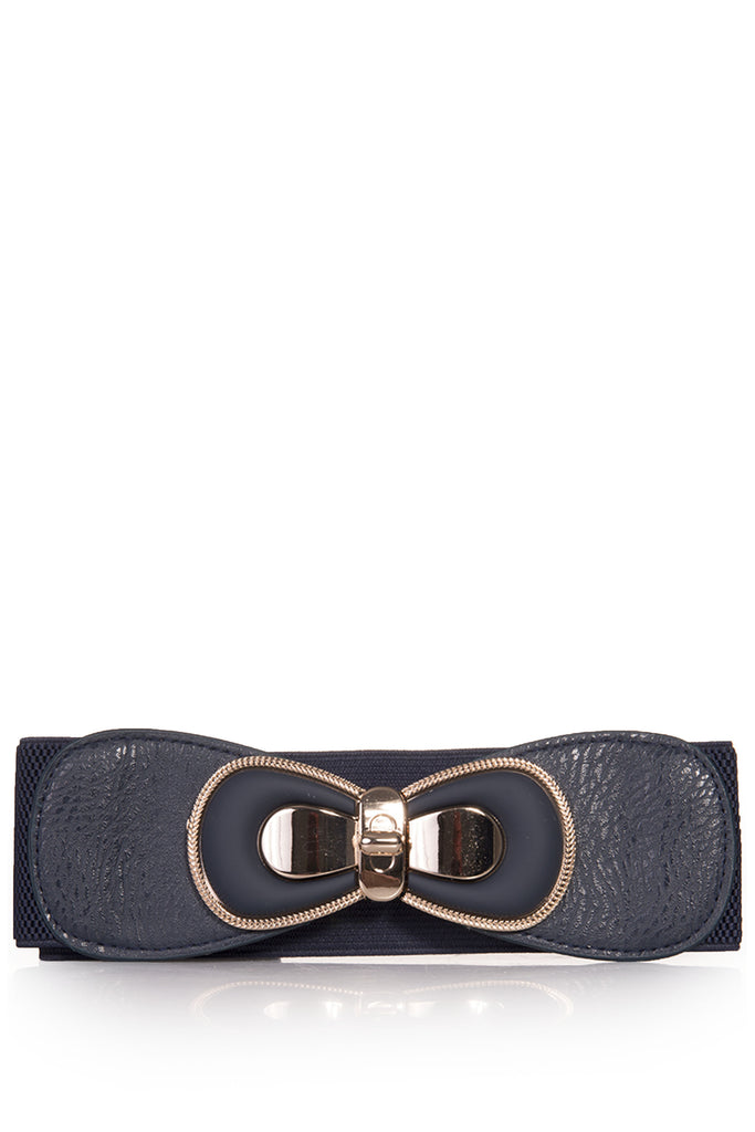 Anna Navy Gold Detail Thick Belt