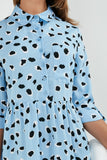 Annie Blue Spotted Shirt Dress