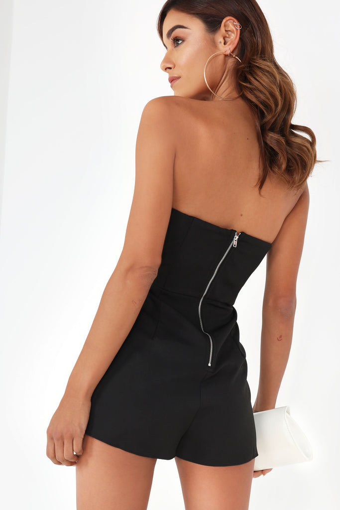 Annmarie Black Bandeau Playsuit