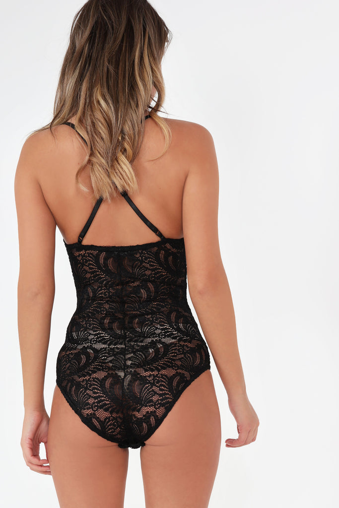 Barbi Black Lace Cami Bodysuit