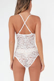 Barbi White Lace Cami Bodysuit