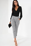 Basha Grey Houndstooth Tailored Trousers