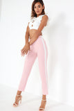 Bertie Pink Side Stripe Trousers