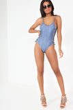 Billie Chambray Lace Up Swimsuit