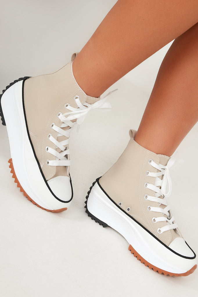 Billie Stone Flatform High Top Trainers