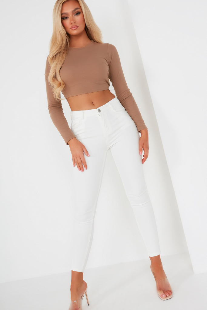Binky White High Waist Jeans