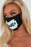 Black Love Cotton Face Mask