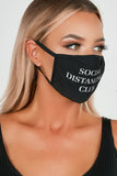 Black Social Distancing Club Face Mask