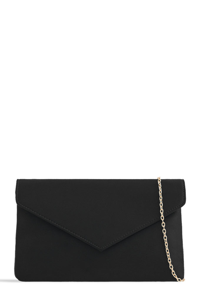 Cara Black Suedette Clutch Bag