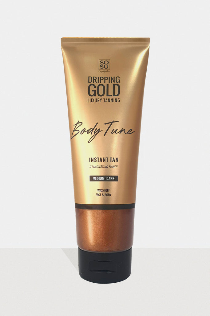 SOSU Dripping Gold Body Tune Medium - Dark Instant Tan