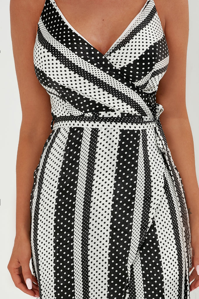 Brody Monochrome Spotty Striped Maxi Dress (1799776075842)