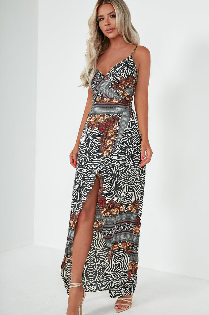Brody Zebra and Paisley Maxi Dress