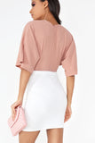 Cait White Stretch Skirt